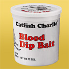 Catfish Charlie Extra-Sticky Dip Bait for catfish fishing