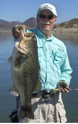 Eleven pound bass from Obregon Lake in Mexico