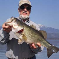 Dan Marchetti with a six-pound largemouth bass