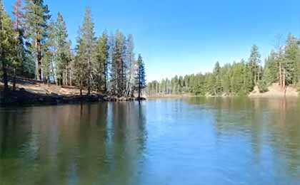 Fishing Huntington Lake In Central Ca Map Fish Species Lake Info