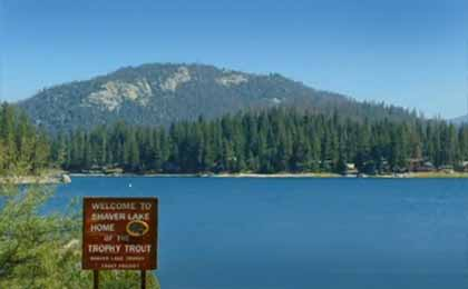 Fishing Shaver Lake In Central Ca Map Fish Species Lake Info